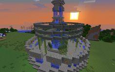 Fountain Minecraft Fountain, Minecraft Garden, Minecraft Tips, Minecraft Designs, Minecraft Creations, Minecraft Stuff, Minecraft Buildings, Architecture, Game Ideas