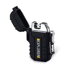 The Explorer Lighter Pro™. Waterproof and windproof plasma lighter. Perfect for Camping, outdoor, survival, adventure, outdoor enthusiasts. USB waterproof and windproof wind-resistant lighter. Tesla Coil, Usb, Zippo Lighter, Portable Charger, Packing Light, Starters, Ebay, Survival Fishing, Electric