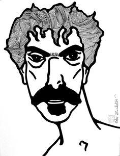 Frank Zappa van PieterZandvliet op Etsy