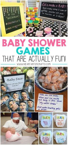 Baby Shower Games That Are Actually Fun! – I Heart Arts n Crafts Baby Shower Games That Are Actually Fun! – I Heart Arts n Crafts,stuff Baby Shower Games That Are. Juegos Baby Shower Niño, Idee Baby Shower, Fun Baby Shower Games, Baby Shower Bingo, Baby Games, Girl Shower, Baby Shower Parties, Baby Shower Themes, Baby Shower Gifts