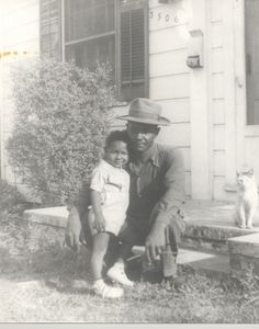 15.  Father and son and a cat named Kitty, 1941 | 40 Sweet Cat Photos Of The '40s