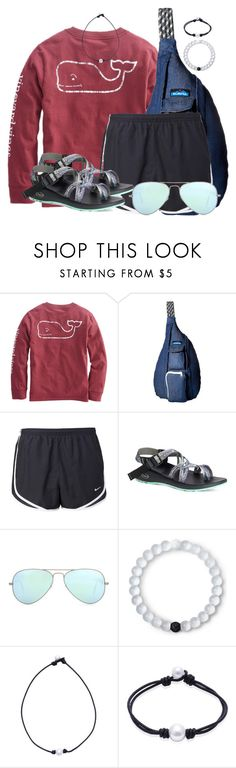"""""""Set # 5 By My Little Brother!"""" by annaewakefield ❤ liked on Polyvore featuring Kavu, NIKE, Chaco, Ray-Ban and Lokai"""