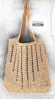 Diy Crochet Bag, Crochet Beach Bags, Crochet Motif, Knit Crochet, Modern Crochet Patterns, Bag Pattern Free, Couture, Knitting, Tote Bag