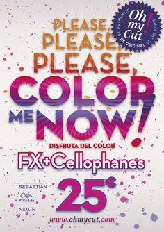 Nueva #promo en #OhmyCut... COLOR ME NOW! Sólo hasta el 30 de #abril disfruta de nuestra nueva promoción con mucho mucho color!