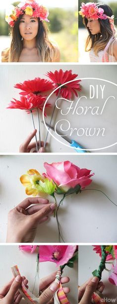 Beautiful floral crown you NEED this summer! Perfect for summer parties, music festivals, and any trendy soiree. Plus, it's so easy to make (you really don't need to spend so much on one that's already made!) DIY instructions here: http://www.ehow.com/how_4856330_make-floral-crown.html?utm_source=pinterest.com&utm_medium=referral&utm_content=inline&utm_campaign=fanpage