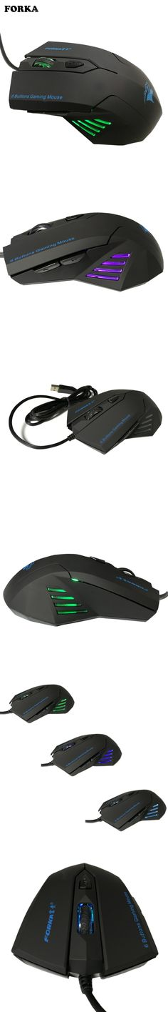 FORKA Silence Click Wired Gaming Mouse 6 Buttons USB Mute LED Optical Cable Ergonomic Computer Mouse Mice for PC Laptop Gamer