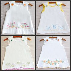 baby dress from antique pillow cases | Rose & Duke vintage hand-embroidered pillowcase dresses - a photo on ...