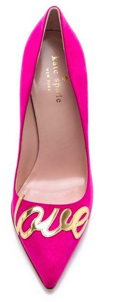 Fun shoes - Kate Spade love pink pump