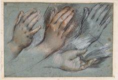 Federico Barocci, c.1535-1612, Italian, Studies of Hands; 1583-86. Staatliche Museen zu Berlin, Berlin. Mannerism.