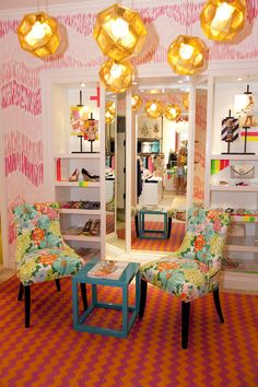 Phipps Plaza - Atlanta, GA Retail Store - The coveted Mariekate awaits next to a custom painting done by our talented print designers!  Join us for our Grand Opening at Phipps Plaza on June 9th and 10th!
