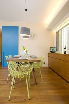 tropical  by Clifton Leung Design Workshop. colorful interior doors