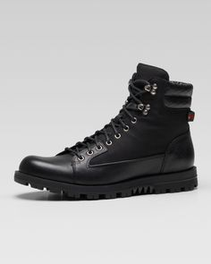 Gucci Meguro Trek Boot. Fall '14 is calling for a good boot! Don't get caught in last year's loafer!