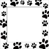paw print border paw print border clip art free doggie rh pinterest com free cat paw print border clip art paw print border clip art free