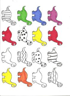 thema dino's : gekleurde dino's