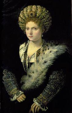 Titian, Portrait of Isabella d'Este, c. 1534-36.