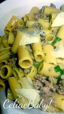 Celiac Baby!: Recipe: Gluten Free Sausage Pasta Carbonara