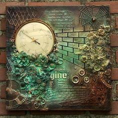 Made by Irene Wijnands Porebski. I found on Marta Lapkowska (Maremi's Small Art) - Inspirational Mixed Media on PINTREST Board.
