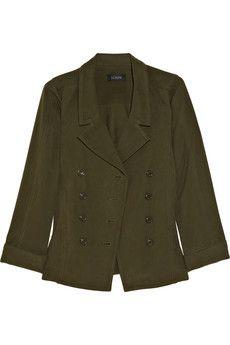 silk & cotton-blend military jacket / j.crew