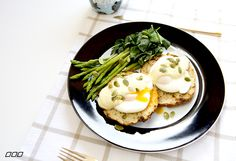 Poached eggs, cashew