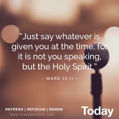 HOLY SPIRIT, PROVIDER OF SPEECH