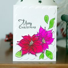 Guest designing for Colour Throwdown and Ink It Up With Heidi Shafer -- Winter Flowers Winter Flowers, Cas, I Card, Christmas Cards, December, Invitations, Colour, Design, Christmas E Cards