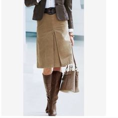 H&M Camel Brown Corduroy A-line Skirt Sz 6 H&M Camel Brown Corduroy A-line Skirt Sz 6. Hit below knee. Great for Fall w/ boots! Measurements: Waist Circumference - 30 inches/ Hip Circumference - 36 inches/ Length - 28 inches. H&M Skirts A-Line or Full