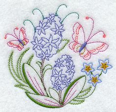Butterfly Circle - Hyacinth (Vintage)