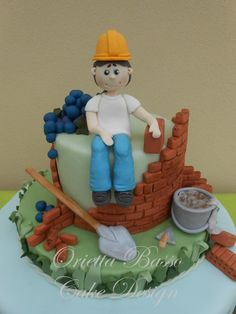 Il muratore - by oriettabasso @ CakesDecor.com - cake decorating website