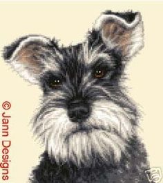 MINIATURE SCHNAUZER complete counted cross stitch kit