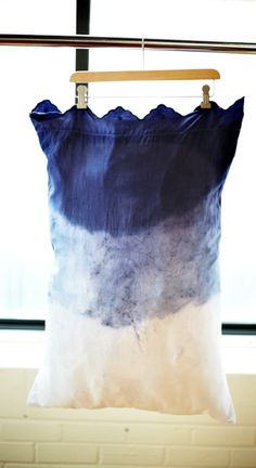 DIY Dip dye pillow case! #toocute