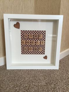 Scrabble frames Scrabble Letter Crafts, Scrabble Art, Scrabble Letters, Scrabble Tiles, Box Frame Art, Shadow Box Frames, Box Art, Scrabble Kunst, Personalised Frames