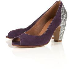 JAZZHANDS Glitter Peep Shoes ($120) via Polyvore
