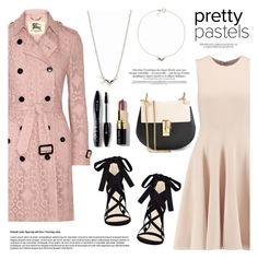 """Pretty Pastel Trench Coats"" by littlehjewelry ❤ liked on Polyvore featuring moda, Burberry, Michael Kors, Nine West, Chloé, Lancôme, Bobbi Brown Cosmetics, women's clothing, women's fashion y women"