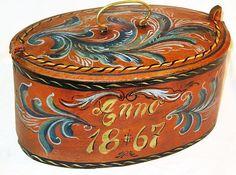 Norwegian 1867 rosemal antique