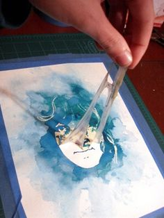 Tutorial to make a watercolor portrait!  Use a digital photograph, a window and art masking fluid. - Click image to find more DIY & Crafts Pinterest pins