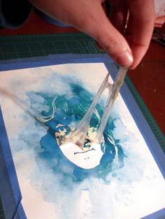 Watercolor Stencil Portrait + TUTORIAL - MORE ART, LESS CRAFT