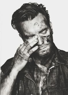 Ewan McGregor in black & white.