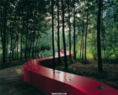 The Red Ribbon Park, Qinhuangdao City, Hebei Province, China, designed by Turenscape Farnsworth House, River Park, Rooftop Pool, Water Tower, Flowers Perennials, Beach Pool, Cool Pools, Ecology, Landscape Architecture