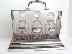 A Betjemann's Patent Tantalus Decanter from blacktulip on Ruby Lane