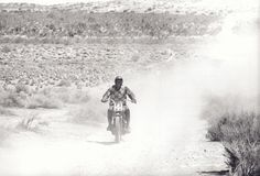 Steve McQueen Takes Off in a Blaze, Mojave Desert, CA, 1963