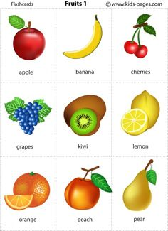 Fruits 1 flashcard