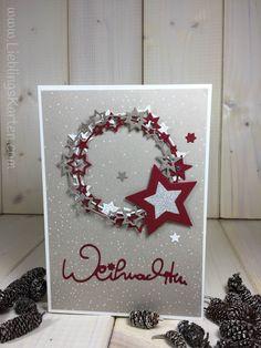 """Weihnachtskarte """"Sternenkranz"""" - Lieblingskarten"""