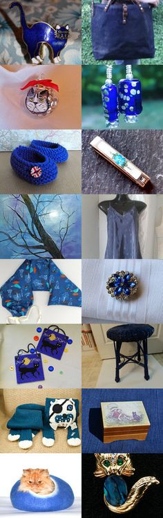My Blue Kitty by Nancy on Etsy--Pinned with TreasuryPin.com