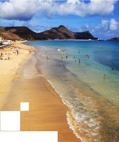 9 km sandy sunny beach - Porto Santo island - Portugal #beachtravel