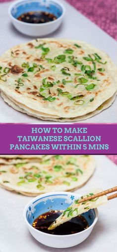Learn the quick and easy way to make these Taiwanese Scallion pancakes within 5 minutes.
