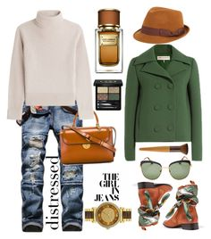 """Distressed #487"" by meryflower ❤ liked on Polyvore featuring Maison Margiela, Vanessa Seward, Emilio Pucci, FOUR BUTTONS, Gucci, Prada, Michael Kors, Dolce&Gabbana, Lanvin and distresseddenim"