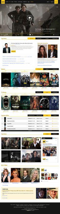 IMDb.com Website Redesign Concept on Behance