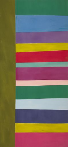 Tall Spread (acrylic on canvas, 271.7 × 152.4 cm, 1966), by Jack Bush, at the National Gallery of Canada