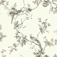 Shabby chic vintage Chinoise Birds Trees Wallpaper in Yellow Teal Black or Taupe in Home, Furniture & DIY, DIY Materials, Wallpaper & Accessories Plum Wallpaper, Wallpaper Wall, Chinoiserie Wallpaper, Feature Wallpaper, Embossed Wallpaper, Glitter Wallpaper, Wallpaper Panels, Wallpaper Samples, Wallpaper Lounge