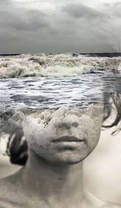 This image has great feeling with the motion of the waves flowing in different directions.